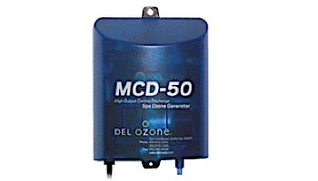 DEL OZONE MCD-50 High-Output Ozone System for Spas | 1,000 Gallons | 120V/240V | AMP Cord | MCD-50U-12