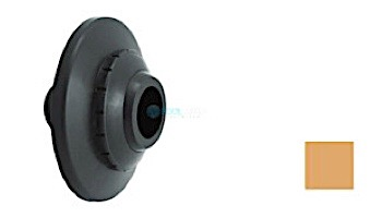 "AquaStar Three-Piece Directional Eyeball Fittings   1"" Knock-In   with Flange - 1"" Orifice   White   5101"