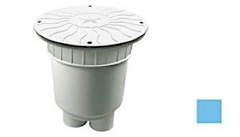 "AquaStar 10"" Round Debris Catcher Suction Outlet Cover with 2 Port Double Deep Sump Bucket (VGB Series)   White   10LT101B"