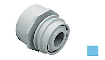 """AquaStar Choice Flush-Mount Return Fitting   with Water Stop Eyeball and Nut Aim Flow   Fits Over 2"""" Pipe with 1/2"""" Orifice   White   3501C"""
