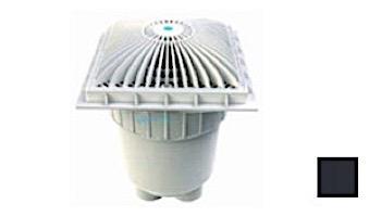 "AquaStar 9"" Square MoFlow Suction Outlet Cover with Dual-Port 2 1/2"" Spigot x 2"" Socket Deep PVC Sump | White | 9MF101B"