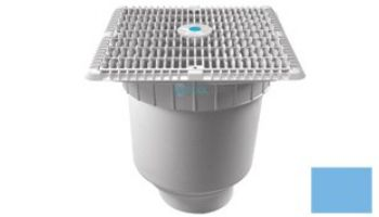 """AquaStar 12""""x12"""" Square Wave Grate  & Vented Riser Ring with Double Deep Sump Bucket with 4"""" Socket (VGB Series) 