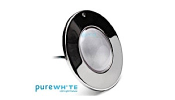 J&J Electronics PureWhite LED Pool Light SwimQuip Series | 120V Equivalent to 500W+ 30' Cord | LPL-F5W-120-30-PSQ