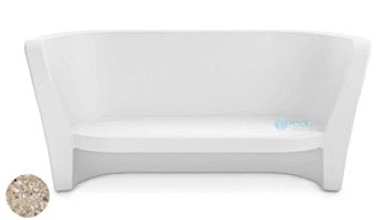 Ledge Lounger Affinity Collection Outdoor Loveseat | White | LL-AF-LS-W