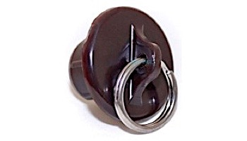 Coolaroo 19mm Tube End Cap with Ring | Brown | Z 11-BRCBR