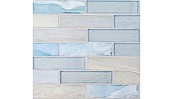 National Pool Tile Santorini Series 1x4 Glass Tile | Cerulean Aqua | SAN-AQUA1x4