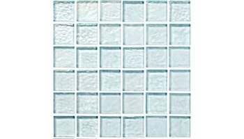 National Pool Tile Sea Ice Series 1x1 Glass Tile | Icecap | ICE-CLEAR
