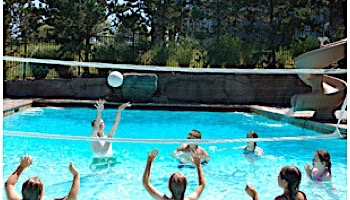 SR Smith Swim N' Spike Residential Volleyball Game Complete | with 20' Net | No Anchors | VOLY20A