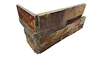 National Pool Tile Natural Ledgerstone  6x16 Corner | Slate | 130118