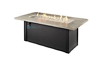 Outdoor GreatRoom Cedar Ridge Linear Gas Fire Pit Table | CR-1242-K