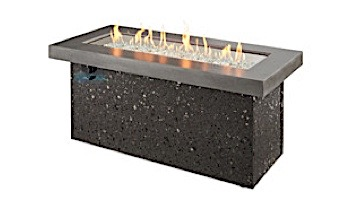 Outdoor GreatRoom Grey Key Largo Linear Gas Fire Pit Table | KL-1242-MM