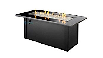 Outdoor GreatRoom Monte Carlo Linear Gas Fire Pit Table | MCR-1242-BLK-K
