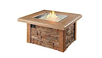 Outdoor GreatRoom Sierra Square Gas Fire Pit Table | SIERRA-2424-M-K