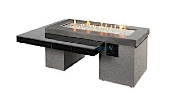 Outdoor GreatRoom Black Uptown Linear Gas Fire Pit Table | UPT-1242