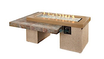 Outdoor GreatRoom Brown Uptown Linear Gas Fire Pit Table | UPT-1242-BRN