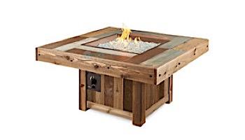 Outdoor GreatRoom Vintage Square Gas Fire Pit Table | VNG-2424BRN