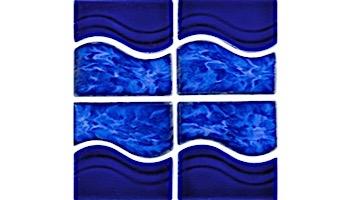 National Pool Tile Tropics Series Wave | Cobalt | TRO-COBALT WV
