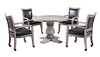 Hathaway Montecito 2-In-1 Poker Table With 4 Chairs   Driftwood Finish   NG5019 BG5019