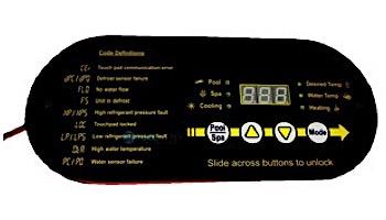 """AquaCal Super Quiet Heat Pump Heater Digital LED Display Control Panel   60"""" Cord   ECS0276"""