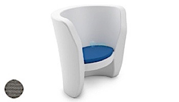 Ledge Lounger Affinity Collection Outdoor Chair Seat Cushion   Standard Fabric Oyster   LL-AF-CR-SC-STD-4642
