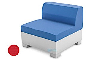 Ledge Lounger Affinity Collection Sectional | Middle Piece White Base | Oyster Standard Fabric Cushion | LL-AF-S-M-SET-W-STD-4642