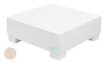 Ledge Lounger Affinity Collection Sectional   Endcap Piece   White   LL-AF-S-EC-W