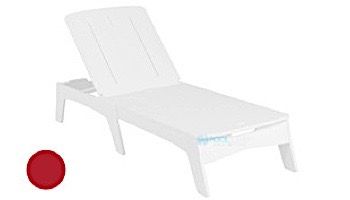 Ledge Lounger Mainstay Collection Chaise   White   LL-MS-C-WH