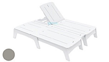 Ledge Lounger Mainstay Collection Double Chaise   Gray   LL-MS-DBC-GRY