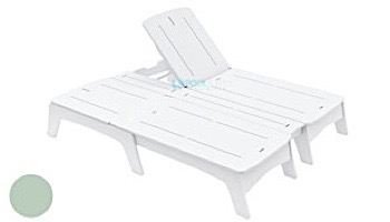 Ledge Lounger Mainstay Collection Double Chaise   White   LL-MS-DBC-WH