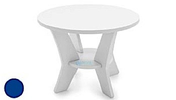 Ledge Lounger Mainstay Collection Round Outdoor Side Table   White   LL-MS-ST-RD-WH