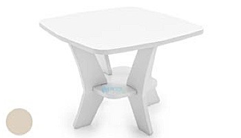 Ledge Lounger Mainstay Collection Square Outdoor Side Table | White | LL-MS-ST-SQ-WH