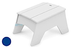 Ledge Lounger Mainstay Collection Outdoor Adirondack Ottoman   White   LL-MS-AO-WH