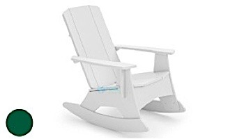 Ledge Lounger Mainstay Collection Outdoor Adirondack Rocker   White   LL-MS-AR-WH