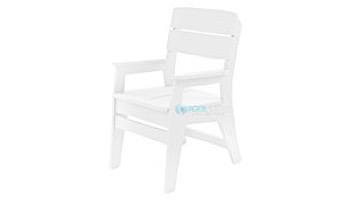Ledge Lounger Mainstay Collection Outdoor Dining Armchair | White | LL-MS-DCA-WH