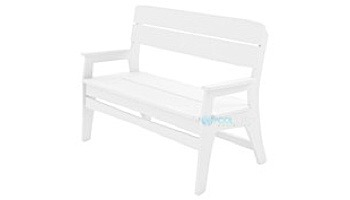 Ledge Lounger Mainstay Collection Outdoor Bench | White | LL-MS-BA-WH
