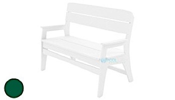 Ledge Lounger Mainstay Collection Outdoor Bench   White   LL-MS-BA-WH
