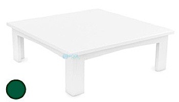 Ledge Lounger Mainstay Collection Outdoor Square Coffee Table   White   LL-MS-CT-SQ-WH