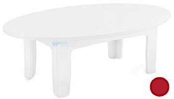 Ledge Lounger Mainstay Collection Outdoor Oval Coffee Table   White   LL-MS-CT-OV-WH