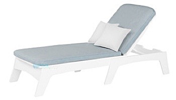 Ledge Lounger Mainstay Collection Outdoor Chaise Cushion   Standard Fabric Oyster   LL-MS-C-C-STD-4642