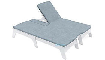 Ledge Lounger Mainstay Collection Outdoor Double Chaise Cushion   Standard Fabric Oyster   LL-MS-DBC-C-STD-4642
