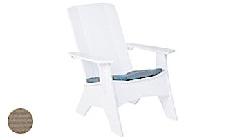 Ledge Lounger Mainstay Collection Outdoor Adirondack Seat Cushion   Standard Fabric Mediterranean Blue   LL-MS-A-SC-STD-4652