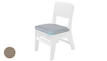 Ledge Lounger Mainstay Collection Outdoor Dining Side Chair Seat Cushion | Standard Fabric Oyster | LL-MS-DC-SC-STD-4642