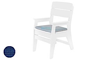 Ledge Lounger Mainstay Collection Outdoor Dining Armchair Cushion   Standard Fabric Oyster   LL-MS-DCA-SC-STD-4642