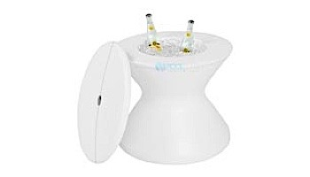"""Ledge Lounger Signature Collection 22"""" Side Table with Lid and Umbrella Hole 