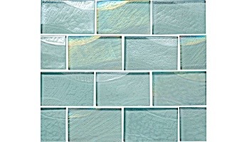 National Pool Tile Sea Ice Series 2x3 Glass Tile | Lagoon |  ICE-LAGOON2X3