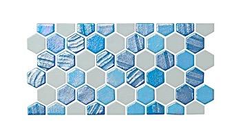 National Pool Tile Starburst Border Glass Tile | Silver | STA-SILVER BDR