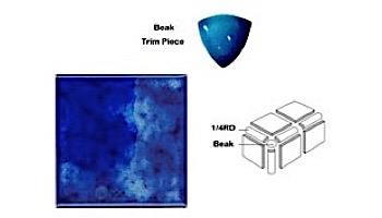 National Pool Tile Akron Field 3x3 Trim | Royal Blue | KAK305 1/4RD