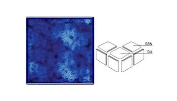 National Pool Tile Akron Field 3X3 Surface Bullnose Trim | Royal Blue | KAK305 SBN