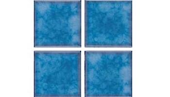 National Pool Tile Akron Field 3X3 Surface Bullnose Trim | Cloud Blue | KAK325 SBN