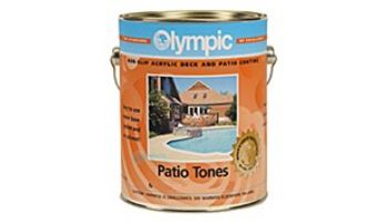 Olympic Patio Tones Water Based Deck Coating   1-Gallon   White   460W G